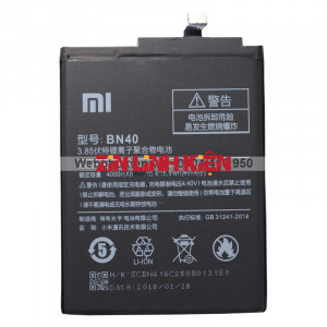 Pin Xiaomi BN40 Dùng Cho Xiaomi Redmi 4 Prime, Dung Lượng 4100mAh