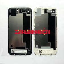 Apple Iphone 4S - Khung Xương Ráp Máy / Khung Xương Đỡ Màn Và Main / Khung Sườn Liền Viền Benzen Màu Trắng