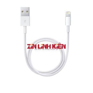 Cáp Dữ Liệu USB Foxconn Lightening - Dùng Cho Các Máy IOS, Type Lightening, Chất Liệu Dây Nhựa, Chiều Dài 1m, Màu Trắng Xiu Xanh
