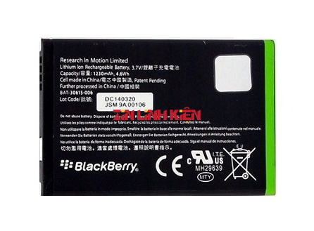Pin BlackBerry BAT-30615-006 1230mAh Dùng Cho Blackberry J-M1 JM1 9850 9860 9900 9930 - Zin Linh Kiện