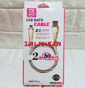 BYZ BL628 - Cáp Dữ Liệu Chính Hãng BYZ, Type Lightening, Dùng Cho IPhone, Dài 2m - Công Ty TNHH Zin Việt Nam