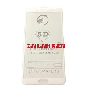 Huawei Mate 10 - Dán Cường Lực 5D Full Viền, Màu Trắng - Zin Linh Kiện