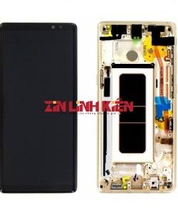 Samsung Galaxy Note 8 2017 / SM-N950F/DS / SM-N9500 - Màn Hình Nguyên Bộ Zin Bóc Máy Liền Khung, Màu Đen, Viền Benzen Gold - Công Ty TNHH Zin Việt Nam