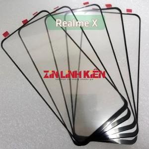 Mặt Kính Zin New Realme X 2019, Màu Đen, Ép Kính