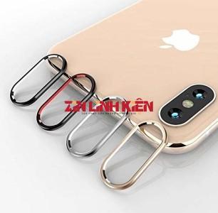 Apple Iphone XS - Vòng Kính Camera Sau / Viền Camera, Màu Trắng Bạc - Zin Linh Kiện