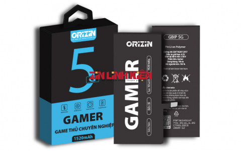 Orizin Gamer BIP5G - Pin Iphone 5G Phiên Bản Game Thủ Chuyên Nghiệp / Dung Lượng Tối Ưu 1520mAh