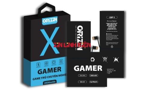 Orizin Gamer BIPX - Pin Iphone X Phiên Bản Game Thủ Chuyên Nghiệp / Dung Lượng Tối Ưu 2800mAh