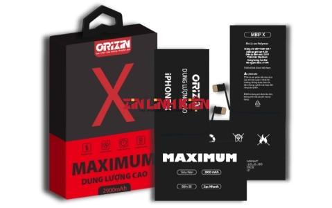 Orizin Maximum BIPX - Pin Chính Hãng Orizin Dùng Cho iphone X, Phiên Bản Pin Iphone Dung Lượng Cực Đại 2900mAh