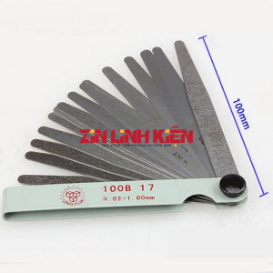 Jinghua 100B17 - Bộ Lưỡi Dao Cậy Màn Hình Gồm 17 Lưỡi Kích Cỡ Từ 0,02mm Tới 0,1mm - Zin Linh Kiện