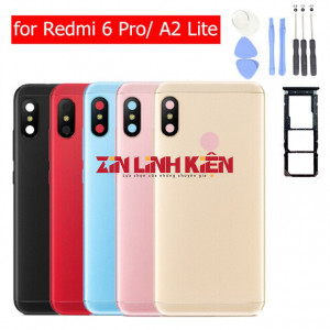 Xiaomi Mi A2 Lite / Redmi 6 Pro - Vỏ Ráp Máy Gồm Nắp Lưng, Benzen Hồng